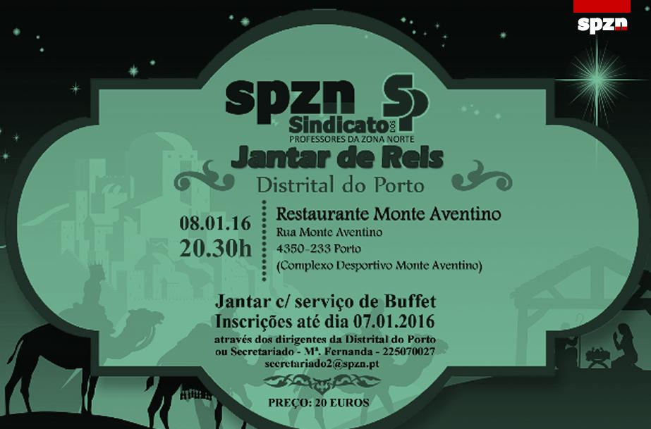 Convite Jantar De Reis Distrital Do Porto Do Spzn